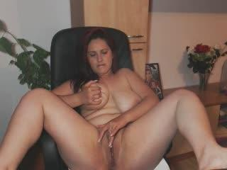 crazy_maria webcam sex video - Sitting on chair big busty doll tirelessly fingers pussy