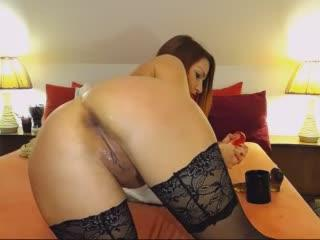 LediDi webcam sex video - Redhead kitty in black stockings sultry fucked her ass and rubbed smooth lagoon with fingers